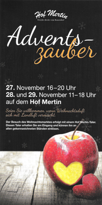 Flyer zum Adventszauber 2015 Thumbnail