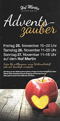 Flyer zum Adventszauber 2016 Thumbnail
