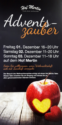 Flyer zum Adventszauber 2017 Thumbnail
